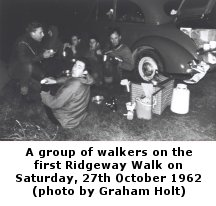 group of walkers in 1962